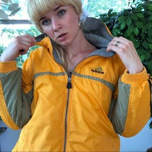 Vintage adidas reversible orange jacket